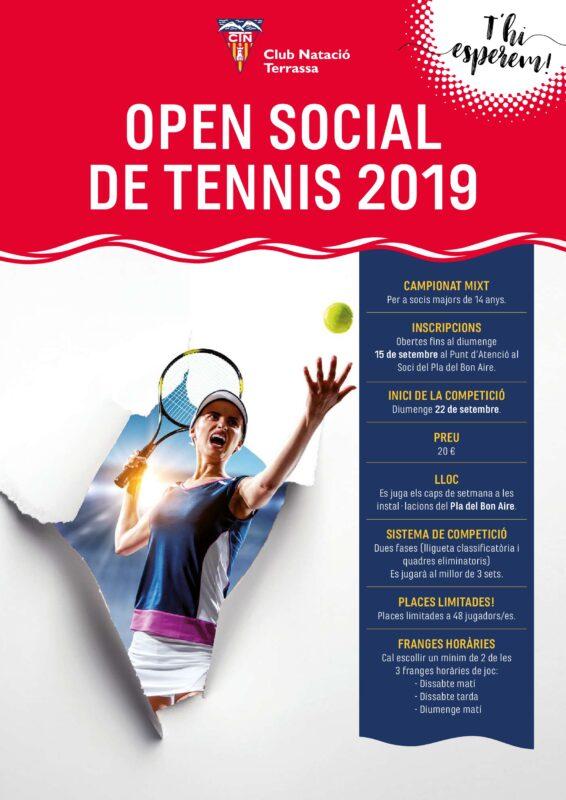 Cartell Open Social de Tennis