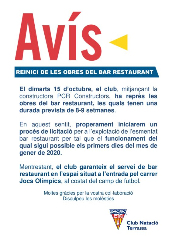 Comunicat bar DIN A3 15 octubre
