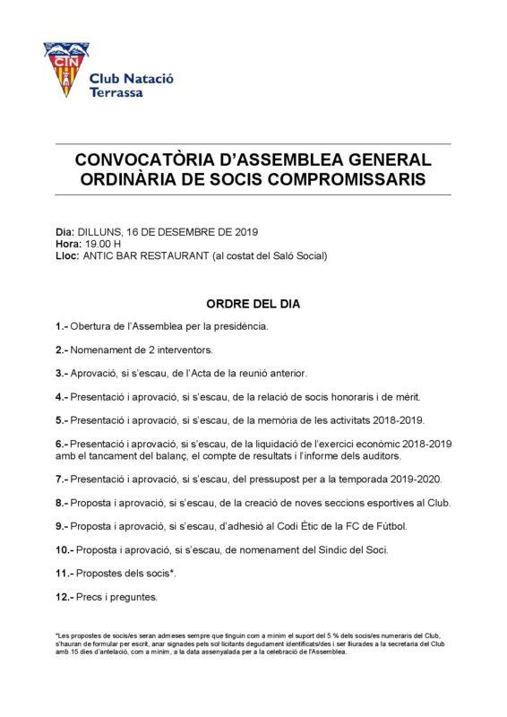 Avís Assemblea General 16-12-19