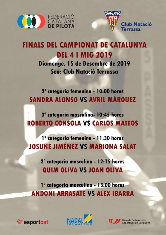 Cartell Campionat de Catalunya del 4 i mig 2019 més petit