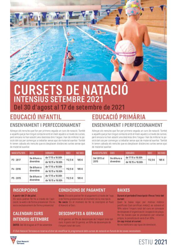 Cursets natació intensiu setembre