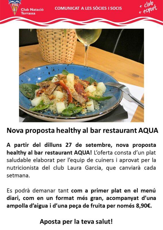 Comunicat proposta healthy bar restaurant