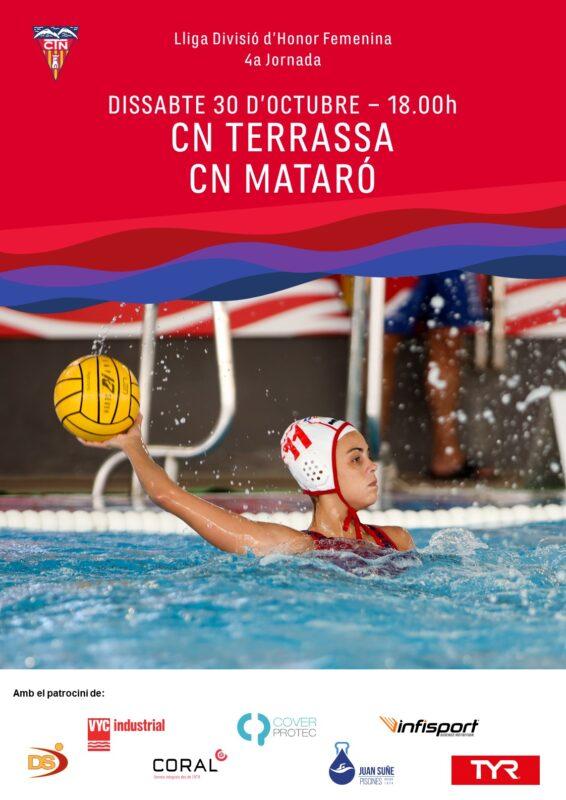 CN Terrassa-CN Mataró WP femení 4a jornada